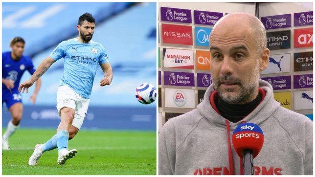 Pep Guardiola reacts Sergio Aguero's shocking penalty miss during Manchester City's defeat to Chelsea - Bóng Đá