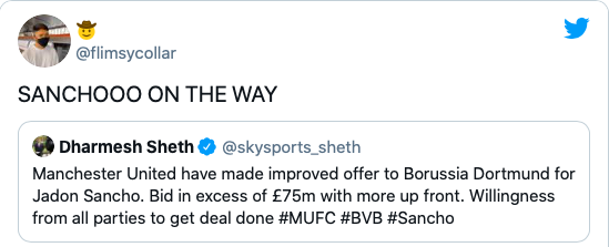 Jadon Sancho to Man United almost done: fans react on social media - Bóng Đá