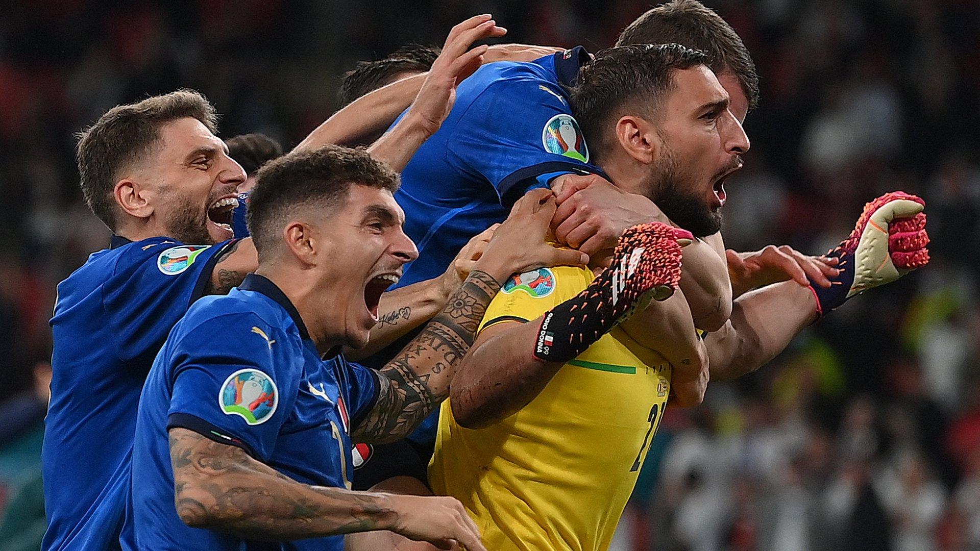 10 thống kê Ý 1-1 Anh (pen 3-2) - Bóng Đá