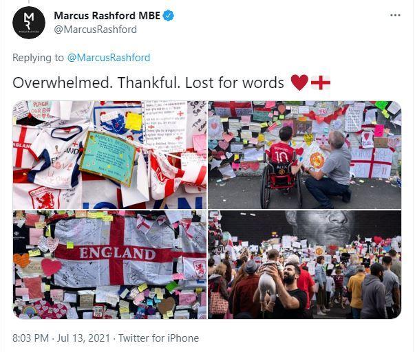 Trái tim Marcus Rashford đã được chữa lành sau EURO 2020 - Bóng Đá