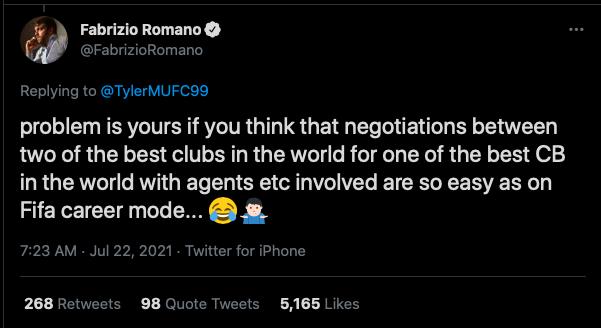 Romano on Varane - Man Utd - Bóng Đá