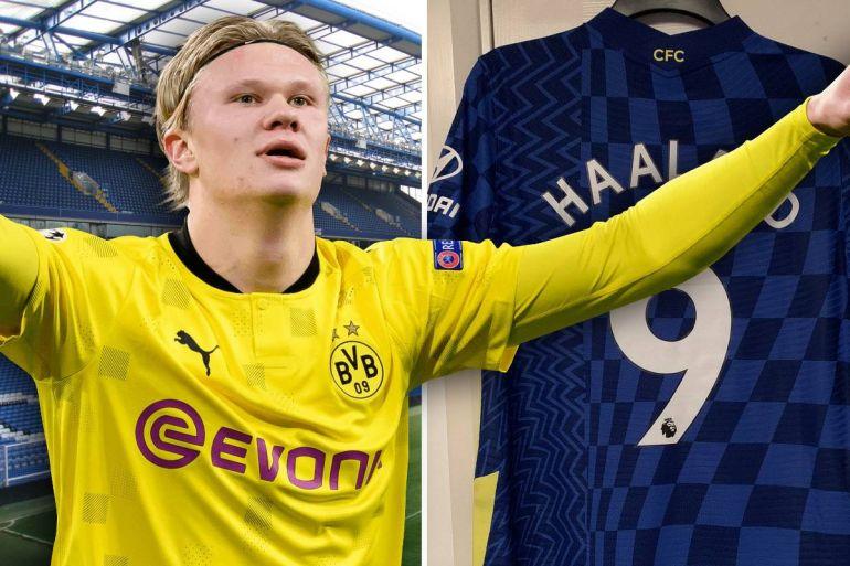 (Photo) Chelsea fan risks it all with bold 'Haaland 9' print on 2021/22 home shirt - Bóng Đá