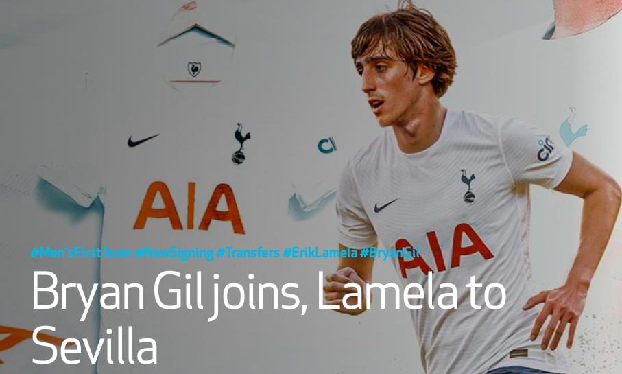 Bryan Gil joins Tottenham - Bóng Đá
