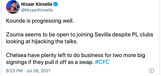 Chelsea can make 'two more big signings' this summer after Jules Kounde - Bóng Đá