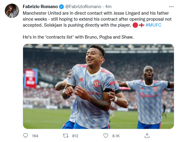 Romano on Lingard, Pogba, Fernandes - Bóng Đá