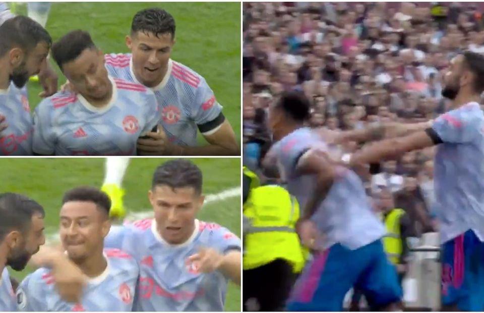 Ronaldo,  Fernandes forced Lingard to celebrate - Bóng Đá