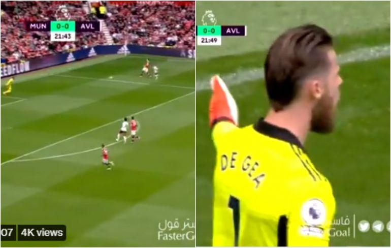 Video: David de Gea furious at Harry Maguire as his error nearly leads to a goal for Villa vs Man Utd - Bóng Đá