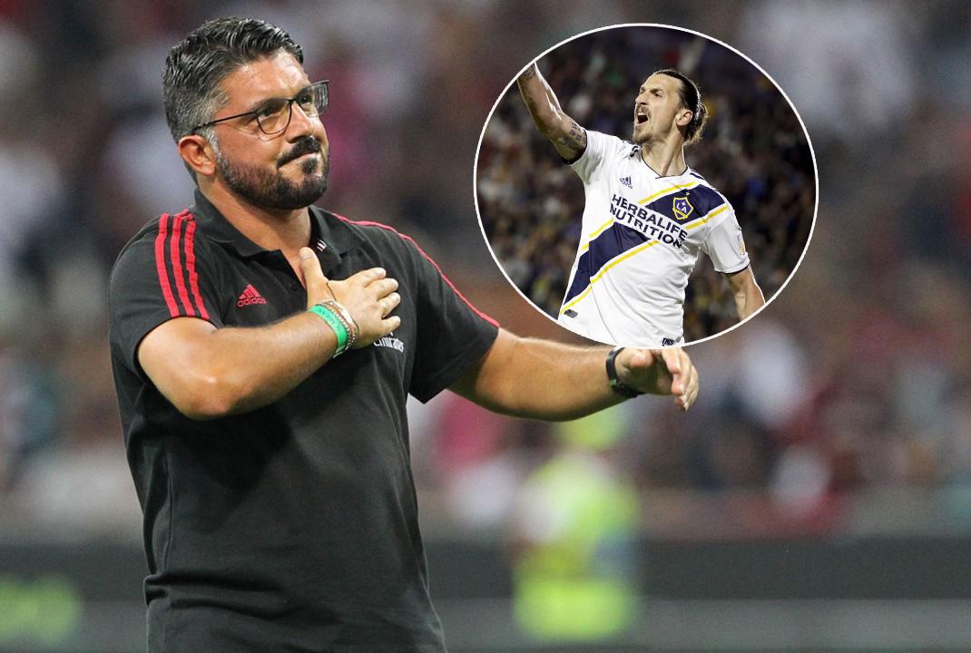 HLV Gattuso lên tiếng về tin đồn Ibrahimovic sẽ tái hợp với AC Milan - Bóng Đá