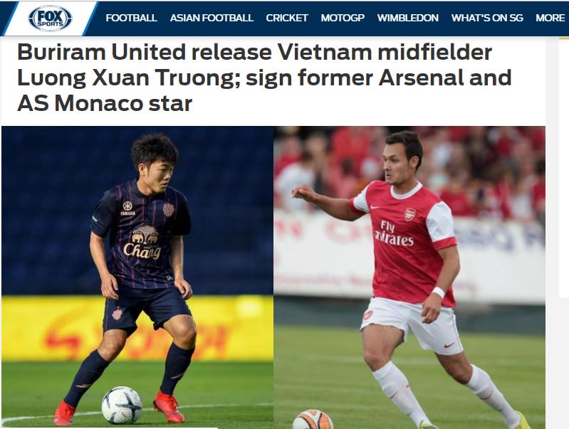 Báo châu Á: Buriram chia tay Xuân Trường, đón cựu sao Arsenal - Bóng Đá