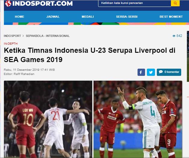 Báo Indonesia: Cách Garuda thua U22 Việt Nam chẳng khác gì Liverpool thua Real Madrid - Bóng Đá