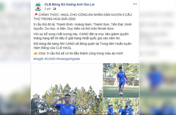 CHÍNH THỨC: Lật kèo Bình Định, HAGL mang 9 sao trẻ cho đội Hạng Nhì mượn - Bóng Đá