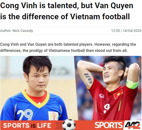 Báo châu Á: Công Vinh tài năng, nhưng ở Việt Nam cậu ấy ở 1 đẳng cấp khác - Bóng Đá