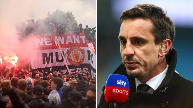 CĐV Man Utd bạo loạn, Gary Neville lập tức lên tiếng - Bóng Đá