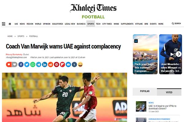 Truyền thông UAE lo lắng, chỉ ra điểm yếu đội nhà trước trận gặp ĐT Việt Nam - Bóng Đá