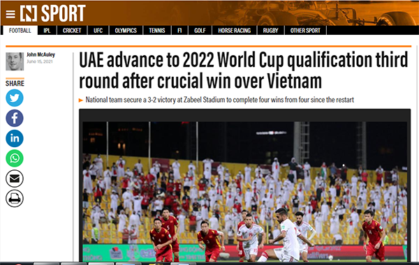 Truyền thông UAE đồng loạt nhắc 2 cái tên của ĐT Việt Nam - Bóng Đá