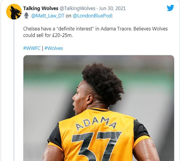 Chelsea ngã giá thương vụ mua Adama Traore - Bóng Đá