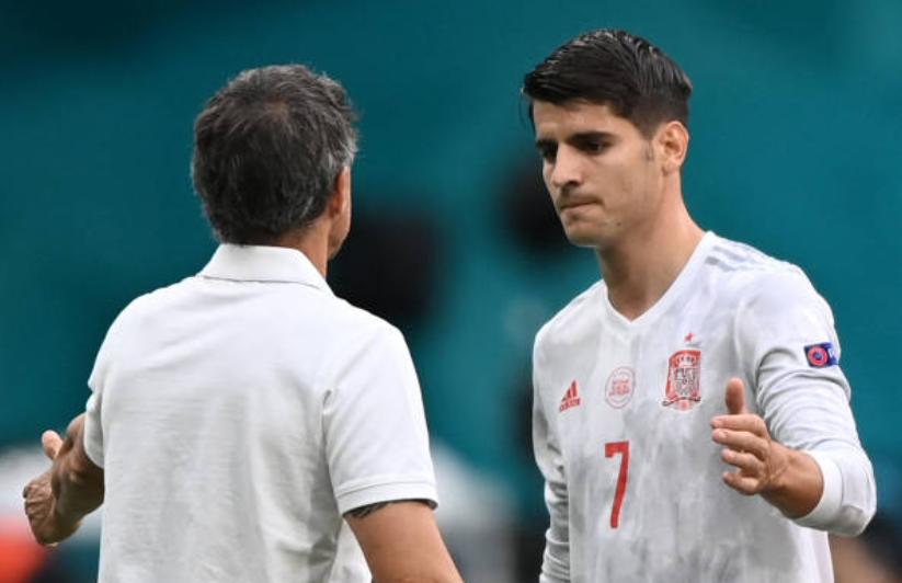 Enrique lý giải việc cất Morata trên băng ghế dự bị - Bóng Đá