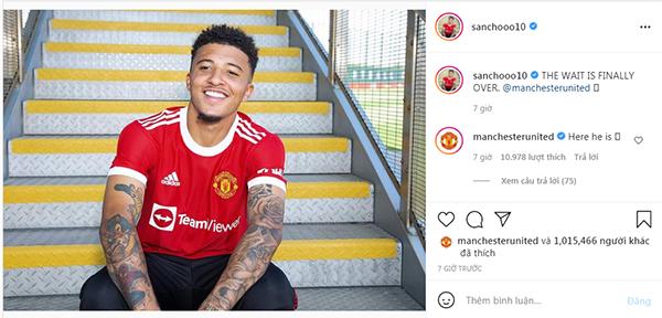 Jadon Sancho gửi thông điệp vỏn vẹn 5 từ đến CĐV Man Utd - Bóng Đá