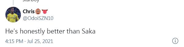 CĐV Man Utd: 'Chúng ta có 1 tài năng còn giỏi hơn Saka
