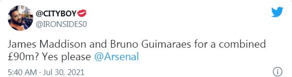 Arsenal fans react as Gunners reportedly open talks to sign Lyon's Brazilian midfielder Bruno Guimaraes - Bóng Đá