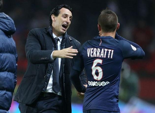 Emery bị Marco Veratti xỉa xói vì khó tính - Bóng Đá