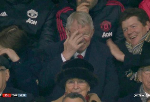 Sir Alex phản ứng ra sao khi MU thua chóng vánh 2-0 trước Southampton? - Bóng Đá