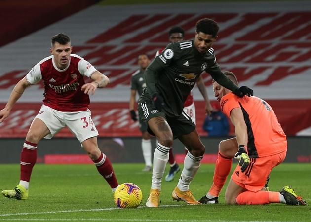3 'điểm đen' của Man Utd ở trận hòa Arsenal: Dấu hỏi cho Rashford - Bóng Đá