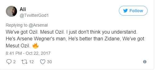 Ozil được CĐV đưa lên mây với màn trình diễn trước Everton - Bóng Đá