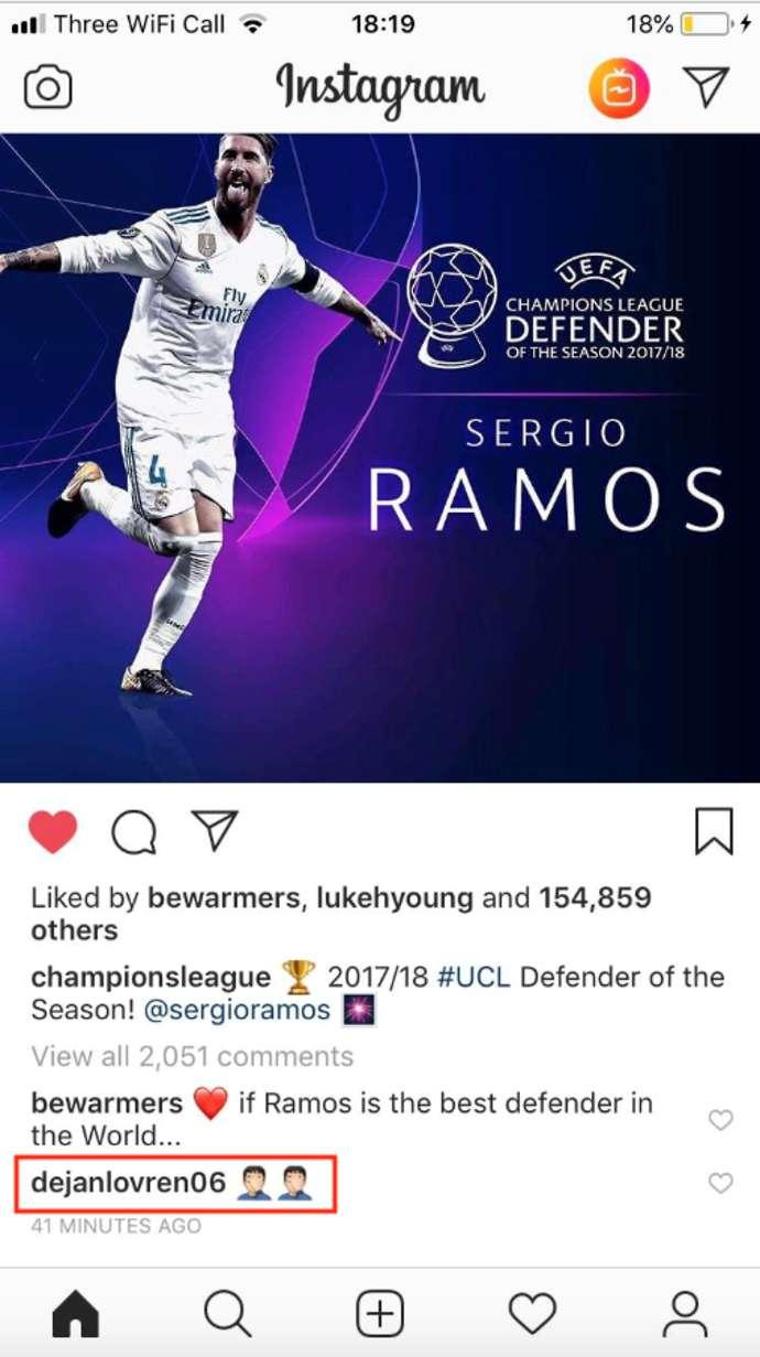 Phản ứng của Lovren khi Ramos nhận giải hậu vệ UEFA - Bóng Đá