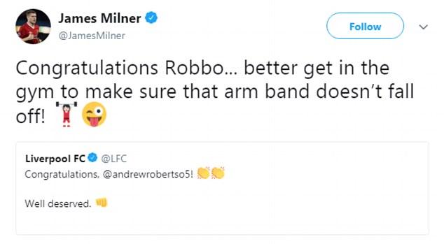 Milner chọc quê Robertson - Bóng Đá