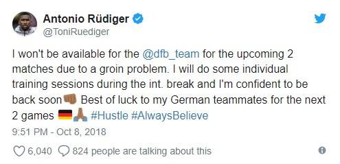 Rudiger chấn thương - Bóng Đá
