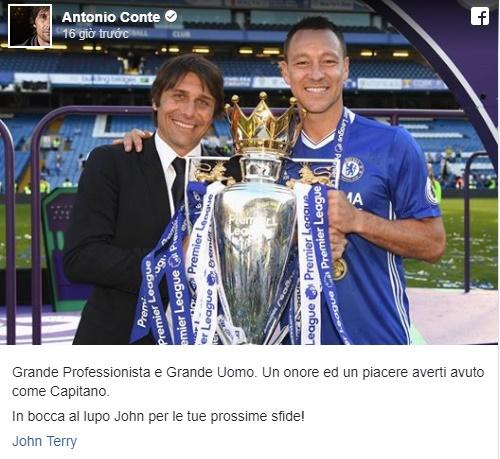 Costa và Conte tri ân Terry - Bóng Đá