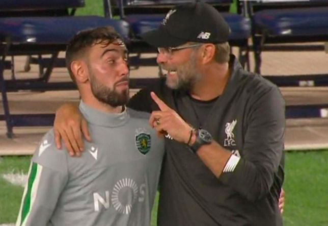 What Jurgen Klopp told Manchester United transfer target Bruno Fernandes after Liverpool friendly - Bóng Đá