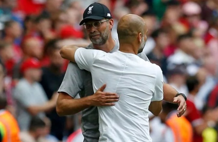 Jurgen Klopp in classy Man City gesture after Liverpool's Community Shield defeat - Bóng Đá