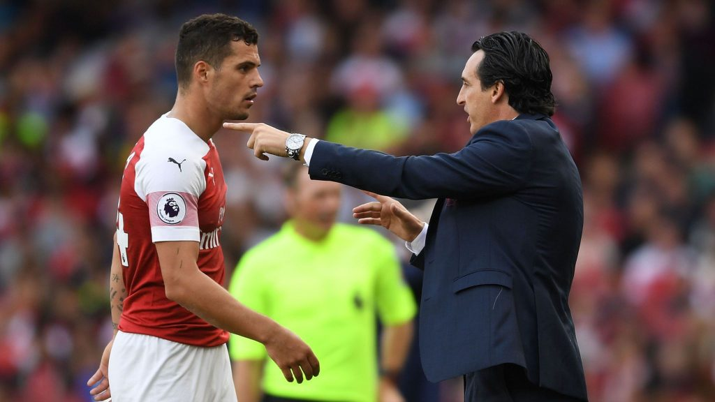 Granit Xhaka may not play for Arsenal again, says Unai Emery - Bóng Đá