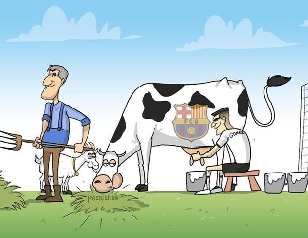 Ảnh chế Barca thua - Bóng Đá