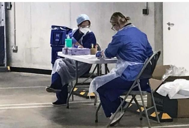Inside Tottenham Hotspur Stadium's makeshift coronavirus testing operation where brave nurses test 70 people per day - Bóng Đá