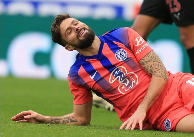Olivier Giroud: Chelsea forward admits 'concern' over lack of playing time - Bóng Đá
