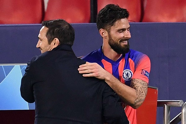 Olivier Giroud sums up his stunning four-goal Chelsea display against Sevilla in two words - Bóng Đá