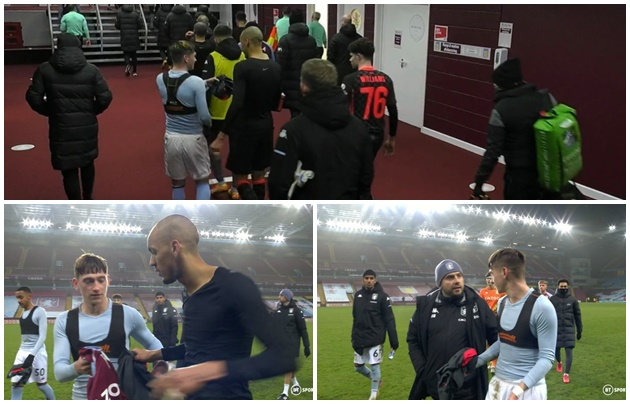 Aston Villa's Louie Barry had to reclaim FA Cup jersey from Fabinho after Liverpool defeat - Bóng Đá