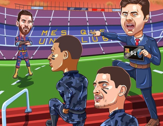 Cười té khói với loạt ảnh chế PSG đại thắng Barca - Bóng Đá