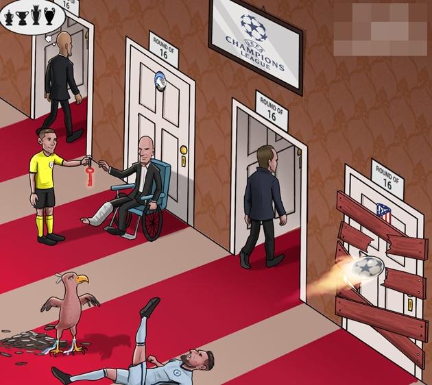 Cười té khói với loạt ảnh chế vòng 1/8 Champions League - Bóng Đá