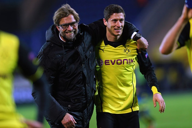 Liverpool boss Jurgen Klopp names Robert Lewandowski as the best player he's ever managed   / - Bóng Đá