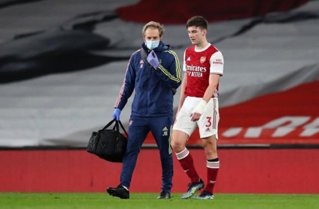 Mikel Arteta reveals Arsenal left-back Kieran Tierney is set to miss the rest of the season - Bóng Đá