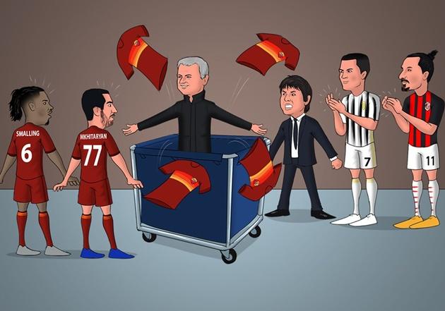 Cười té khói với loạt ảnh chế Mourinho làm HLV AS Roma - Bóng Đá
