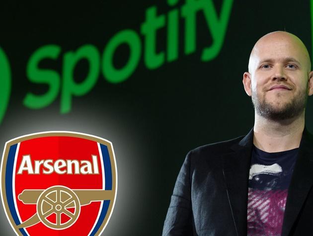 [Daniel Ek] confirms he has made a formal bid to buy Arsenal - Bóng Đá