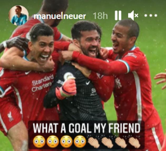 Alisson đánh đầu ghi bàn, Neuer lập tức lên tiếng - Bóng Đá