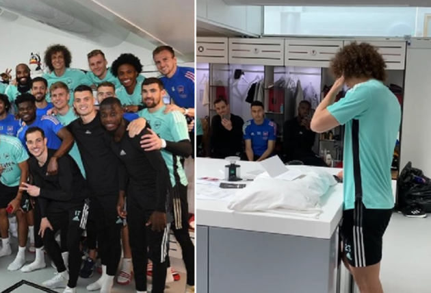 David Luiz breaks down as he gives emotional farewell speech to Arsenal squad - Bóng Đá