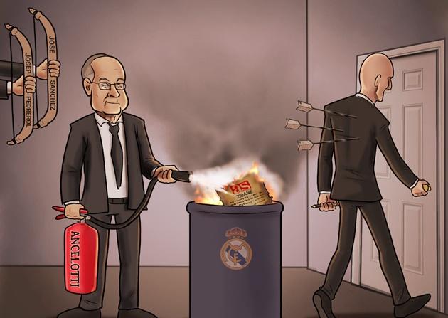 Cười té khói với loạt ảnh chế Ancelotti thay thế Zidane - Bóng Đá