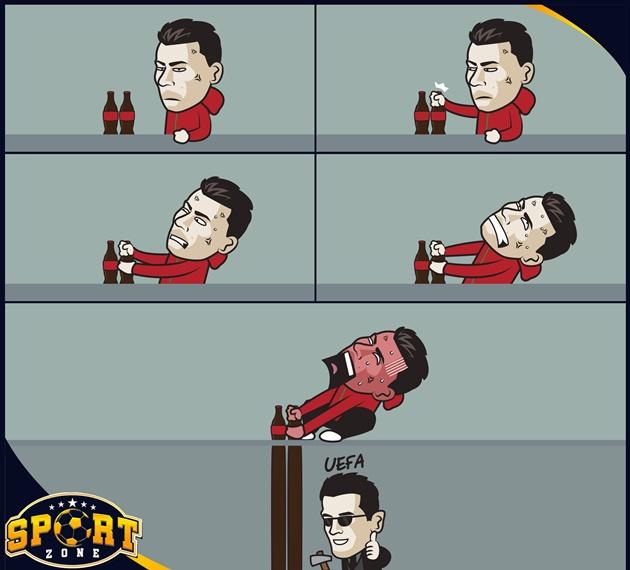 Cười té khói với loạt ảnh chế Ronaldo phá kỷ lục EURO - Bóng Đá